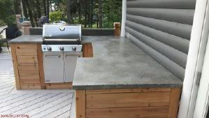 Outdoor concrete kitchen