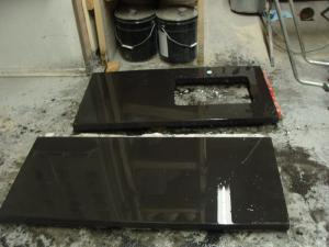 Black countertop fresh out of mold