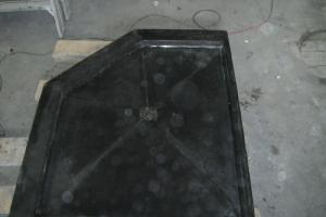 Concrete shower drain