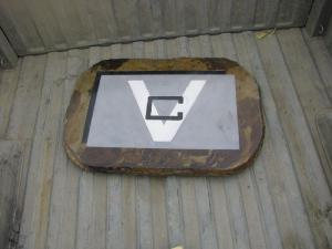 Decorative concrete logo
