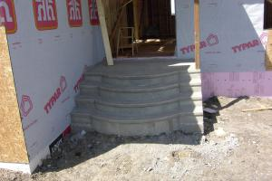 Fancy decorative concrete steps